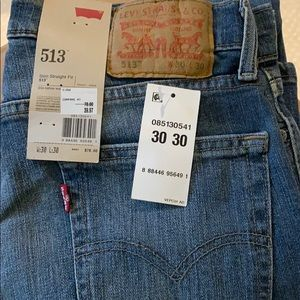 Levi's NWT $78 men's 30 30 513 slim straight fit